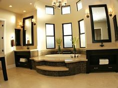 While this is exceptionally over-the-top, I'd be lying if I said I wouldn't love to have a master bath like this!