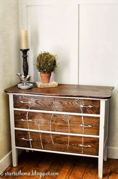 REVIVAL MONDAY - WEST FURNITURE REVIVAL Stained and painted dresser makeover