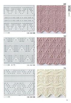 Японские ажурные узоры со схемами -  часть №3 для сайта *Модное вязание*,http://modnoevyazanie.ru.com/