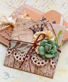 Hello everyone ^.^ yesterday I posted some cute envelopes I made using Eileen Hull  block dies .You can see the envelopes here . As I pro...