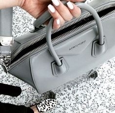 The Givenchy Antigona in gray! // Follow @ShopStyle on Instagram to shop this look
