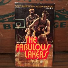 The Fabulous Lakers Vintage Paperback Book 1972 Lancer Los Angeles Sports NBA Pro Basketball Jerry West Wilt Chamberlain by vintagebaron on Etsy