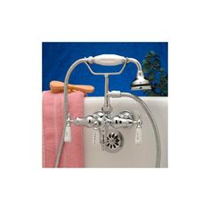 Woodrow Leg Tub Faucet with Hand Shower