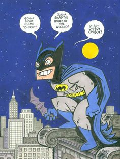 """Batman Roof"" by Evan Dorkin"