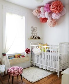 want pom poms if baby girl...for over glider