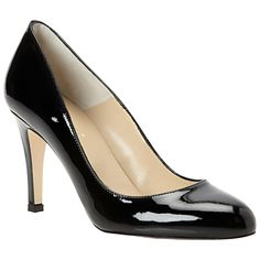 Buy Hobbs Rebecca Patent Leather Almond Toe Court Shoes, Black online at JohnLewis.com - John Lewis