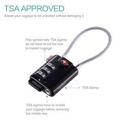 Kofferschloss mit Alarm Small Luggage, Master Key, Gadgets, Personalized Items, Locker, Suitcase, Gadget