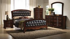 1380 Cambridge Tufted Bedroom Set now available at www.furnitureurban.com