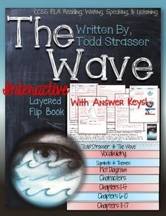 The Wave, by Todd Strasser: Interactive Layered Flip BookEach flap is  inch and…