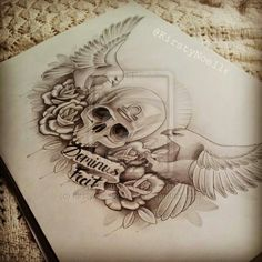 Tattoo design, maybe a chest or lower back piece.