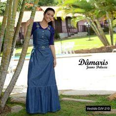 DJV210 - Vestido Longo Jeans - Dâmaris