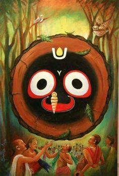 And whisper of your name Lord Jagganath led to maya's destruction ।।jai Jagganath ।। Krishna Painting, Krishna Art, Krishna Images, Radhe Krishna, Lord Jagannath, Happy Gif, Hindu Deities, Hinduism, India Art