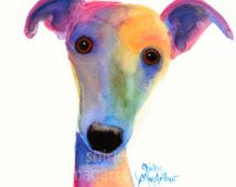 watercolour dog color - Google Search