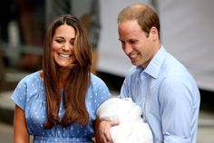 Pin for Later: Royal Rewind: Look Back on Prince George's First Appearance!  The Duke and Duchess of Cambridge were all smiles when they introduced their baby prince to the world.