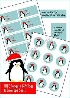 Free Penguin Gift Tags & Envelope Seals http://www.supercouponlady.com/2013/12/free-penguin-gift-tags-envelope-seals.html/