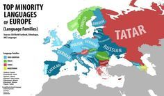 Top native minority languages of Europe, by country. The darkness of the country correlates with the percentage of the total population speaking that minority language Swedish Language, German Language, European Languages, World Languages, European History, World History, Historia Universal, Human Geography, Language Study