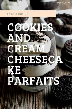Cookies and Cream Cheesecake Parfaits Healthy Meals For One, Healthy Recipes On A Budget, Healthy Breakfast Recipes, Snack Recipes, Chocolate Chip Recipes, Chocolate Chips, Cookies And Cream Cheesecake, Instant Recipes, Crockpot Recipes