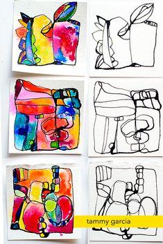 Inktober drawings, Tammy Garcia, daisyyellowart.com