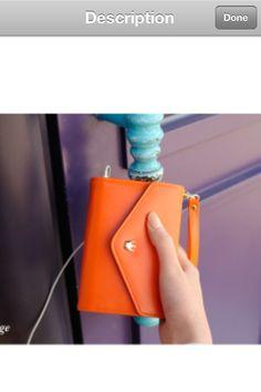 Orange iPhone Wallet from JMKJ