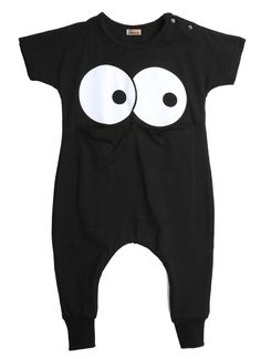 >> Click to Buy << Baby Boys Kids Cotton summer Short Sleeve cartoon eyes pattern  black solid color cute  Bodysuit  #Affiliate