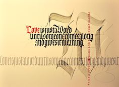 Calligraphy by Loredana Zega : Art Calligraphy