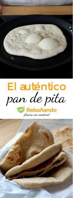 Prepara el pan de pita tradicional con esta sencilla receta. Delicious Vegan Recipes, Yummy Food, Healthy Recipes, Pitta, Casa Pizza, Comida Armenia, Cooking Time, Cooking Recipes, Bread Recipes