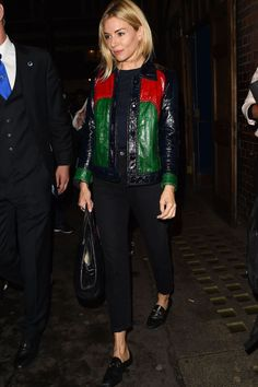 65bdfc1d0b9 When  August 2017 Where  Leaving the Apollo Theatre after her performance  in Cat on a Hot Tin Roof Wearing  A Gucci jacket teamed with high-waisted  cropped ...