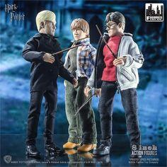 "Harry Potter Ron Weasley Drago Malefoy Rétro 8/"" action figure set style Mego MOC"