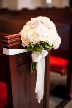 pew markers for wedding Trinity Episcopal Church, Pink & Green Wedding Wedding Ceremony Ideas, Wedding Aisles, Wedding Bouquets, Wedding Flowers, Wedding Church, Wedding Stage, Church Pew Decorations, Wedding Aisle Decorations, Wedding Arrangements