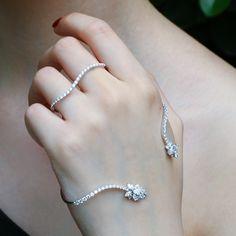 """Flirt"" Diamond Hand Bracelet - Shop Fine Jewelry Online | Plukka"