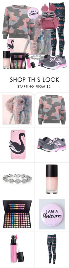 """""""Happy Sunday"""" by mai-bo ❤ liked on Polyvore featuring Kate Spade, New Balance, Harry Kotlar and Laura Geller"""