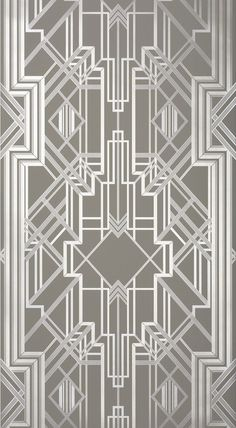The Great Gatsby iconic Art Deco wallpaper design / Motif Art Deco, Art Deco Decor, Art Deco Stil, Art Deco Pattern, Modern Art Deco, Art Deco Design, Decoration, Art Deco Wallpaper, Of Wallpaper