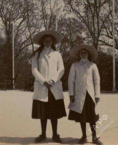 "Grand Duchesses Maria and Anastasia Nikolaevna Romanova of Russia in 1912.   ""AL"""