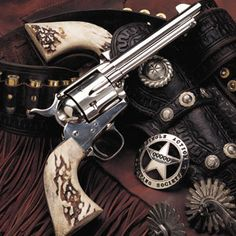 Old Western revolver Weapons Guns, Guns And Ammo, Cowboy Action Shooting, Cowboy Up, Cowboy Gear, Cowboy Western, The Lone Ranger, Gun Holster, Cowboy Holsters