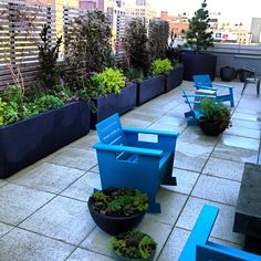 Roof top designed by Greenery NYC