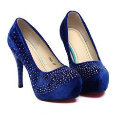 $14.78 Party Women's Suede Pumps With Rhinestones Design