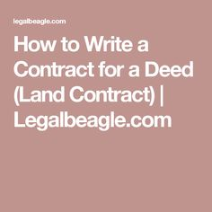 Printable Contract For Deed Template   Sample Forms