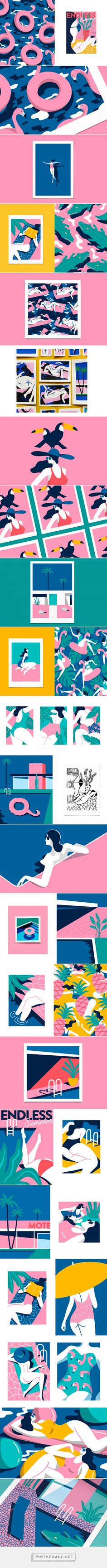 ENDLESS SUMMER on Behance - created via https://pinthemall.net
