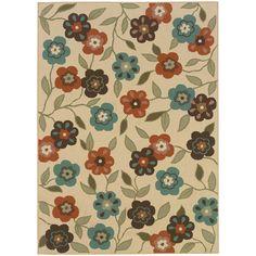 Oriental Weavers Montego 2267Y Ivory/Brown Floral Area Rug