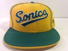 Seattle Super Sonics New Era NBA Size 8 Fitted Hat 100% Wool Great Condition #NewEra #SeattleSupersonics