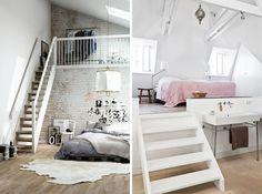 attic ideas, zolder ideeen, zolderkamer verschillende hoogtes, zolderkamer inspiratie1