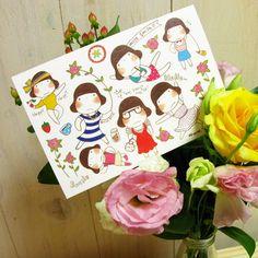 miss smile postcard 02 - 미스스마일, 디자인문구, 편지/카드, 엽서, 디자인엽서