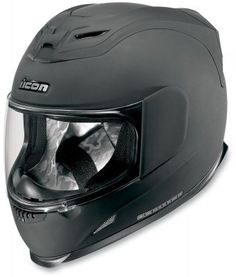Amazon.com: Icon Airframe Full Face Motorcycle Helmet Rubatone Black Medium M: Automotive