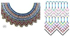 Beading ___ FREE - WIDE Beaded Necklace __ Artist = Natali Khovalko Bead Jewellery, Beaded Jewelry, Beaded Necklace, Necklaces, Beading Tutorials, Beading Patterns, Diy Necklace Patterns, Beaded Collar, Earring Tutorial