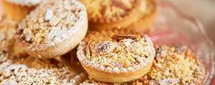 Orange crumble mince pies