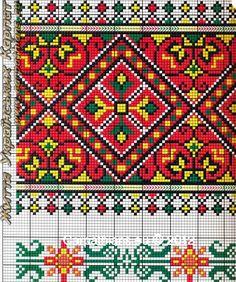 МОЯ ВИШИВАНКА: Узори гуцулів. Гуцульські орнаменти. Гуцульська вишивка від Галини Михайлюк Hand Work Embroidery, Beaded Embroidery, Cross Stitch Embroidery, Embroidery Patterns, Cross Stitch Borders, Cross Stitching, Cross Stitch Patterns, Chart Design, Tapestry Crochet