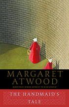 """The handmaid's tale.  Author: Margaret Atwood.  Publisher: Boston : Houghton Mifflin, 1986.  Summary: """"This visionary novel, in which God and Government are joined, and America is run as a Puritanical Theoracy, can be read as a companion volume to Orwell's 1984-its verso, in fact. It gives you the same degree of chill, even as it suggests the varieties of tyrannical experience; it evokes the same kind of horror even as its mordant wit makes you smile...""""  E. L. Doctorow"""