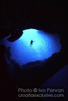 Island Vis, Croatia, Blue cave