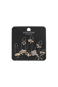 Multi-Pack Crystal Rings From TOPSHOP