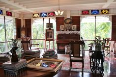 The Santos-Andres ancestral house: Heritage born anew Filipino Interior Design, Philippine Architecture, Zen Interiors, Philippine Houses, Tropical Interior, Mansion Interior, Indian Homes, Spanish House, Tropical Houses